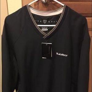 Nike Golf Pullover Black V-Neck Size Large NWT